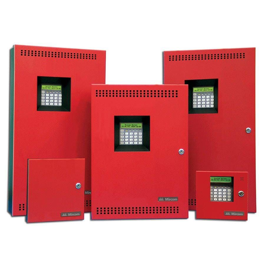 red control panels